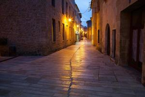 The old wall and streets of Alcudia