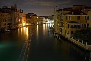 The Light of Venice Long exposure By Night. photo