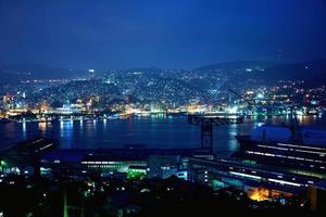 Night view at Nagasaki, Japan