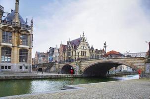 Belgium. Gent. The bridge of Saint Michael.