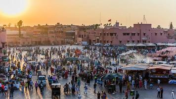 Marrakech, Morocco - Circa September 2015 - sunrise over marrake photo