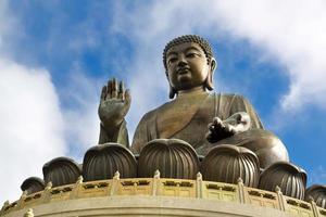 Huge bronze Buddha statue in Hong Kong