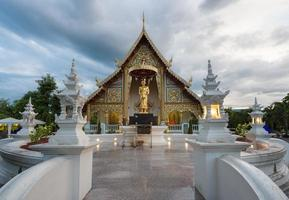Place a beloved old Buddhist Lanna.Wat Phra-singha temple great photo
