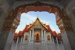 The Marble Temple, Wat Benchamabopitr Dusitvanaram Bangkok, Thai photo