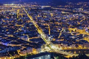 View on Grenoble in the evening, France