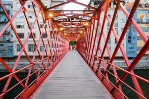 Eiffel Bridge in Girona, Catalonia, Spain photo