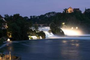 The Rhine waterfalls at Neuhausen on Switzerland