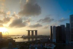 Singapore skyline at Marina Bay photo