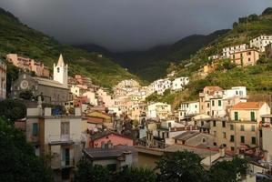 Riomaggiore before a summer storm photo