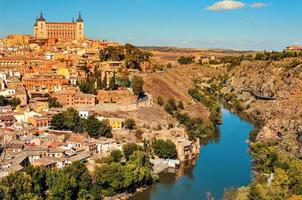 panoramic view of Toledo, Spain, and the Tagus river