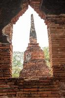 Buddhist temple ruins photo