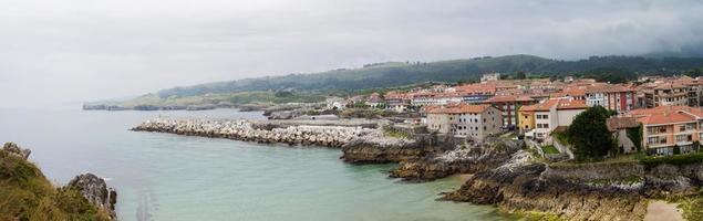 Panoramic view of Llanes, Asturias photo