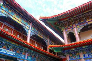 Traditional Chinese style temple at Wat Leng-Noei-Yi ,Thailand