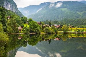 Scenery of Grundlsee lake in Alps photo