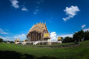 Thai temple building photo