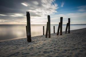 Destroyed pier photo