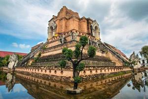 Ancient pagoda at Wat Chedi Luang in Chiang Mai, Thailand