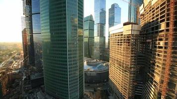 rascacielos de la ciudad de moscú video
