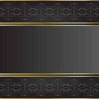 Black Background with Tribal Pattern and Gold Trim