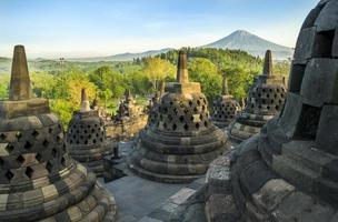 Morning at Borobudur