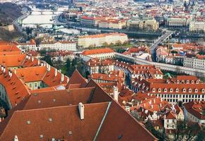 The view over the red roofs of Prague
