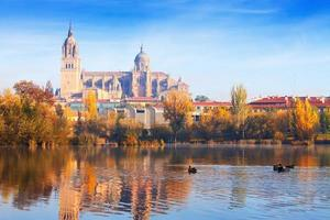 Salamanca Cathedral from Tormes River photo