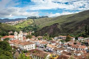 View of the unesco world heritage city of Ouro Preto photo