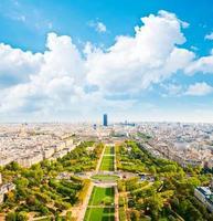 Aerial panoramic view of Paris photo