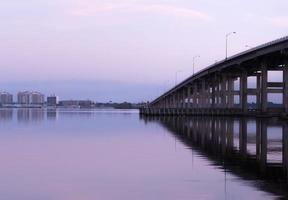Sunrise at Caloosahatchee Bridge Fort Myers Florida photo
