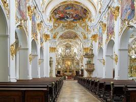 Interior of Old Chapel in Regensburg, Germany photo