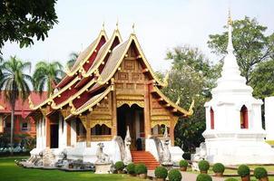 templos budistas en wat phra singh, tailandia foto
