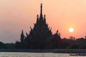 The wooden sanctuary of truth, buddhist, and hindu