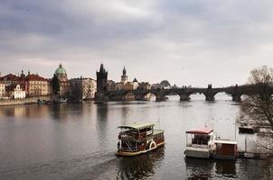 Boats on the Vltava photo