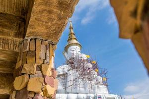Big white buddha statue