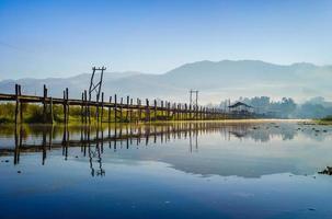 Maing Thauk Bridge, Inle Lake, Shan State, Myanmar. photo