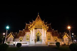 Traditional Thai architecture, Wat Benjamaborphit or Marble Temp photo