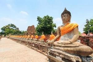 wat yai chai mongkol em Ayutthaya, Tailândia