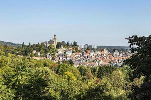 view to old town and castle of Kronberg photo