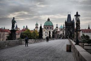 Historic Charles Bridge in Prague, Czech Republic