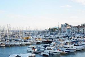 Cannes old harbor boats and yachts, France