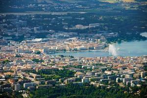 Aerial View Lake Geneva photo