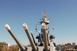 USS North Carolina - Bow Turrets