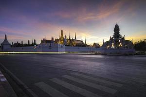 Grand Palace at sunset photo