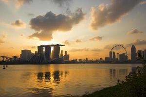 horizonte de la ciudad de singapur foto