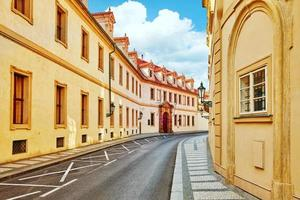 Quarters and streets on  Prague's Mala Strana. photo