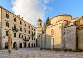 Church of Saint Luke and the square in Kotor, Montenegro
