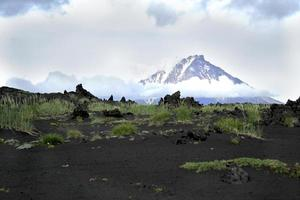 volcano in the clouds photo