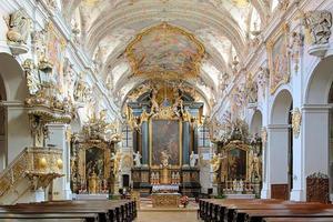 Interior of St. Emmeram's Basilica in Regensburg, Germany photo