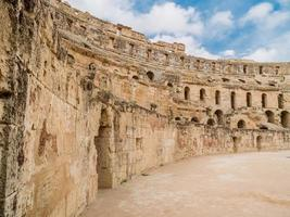 ruins of ancient colosseum in North Africa photo