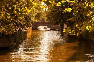 Groenerei or Green canal of Bruges, Belgium.